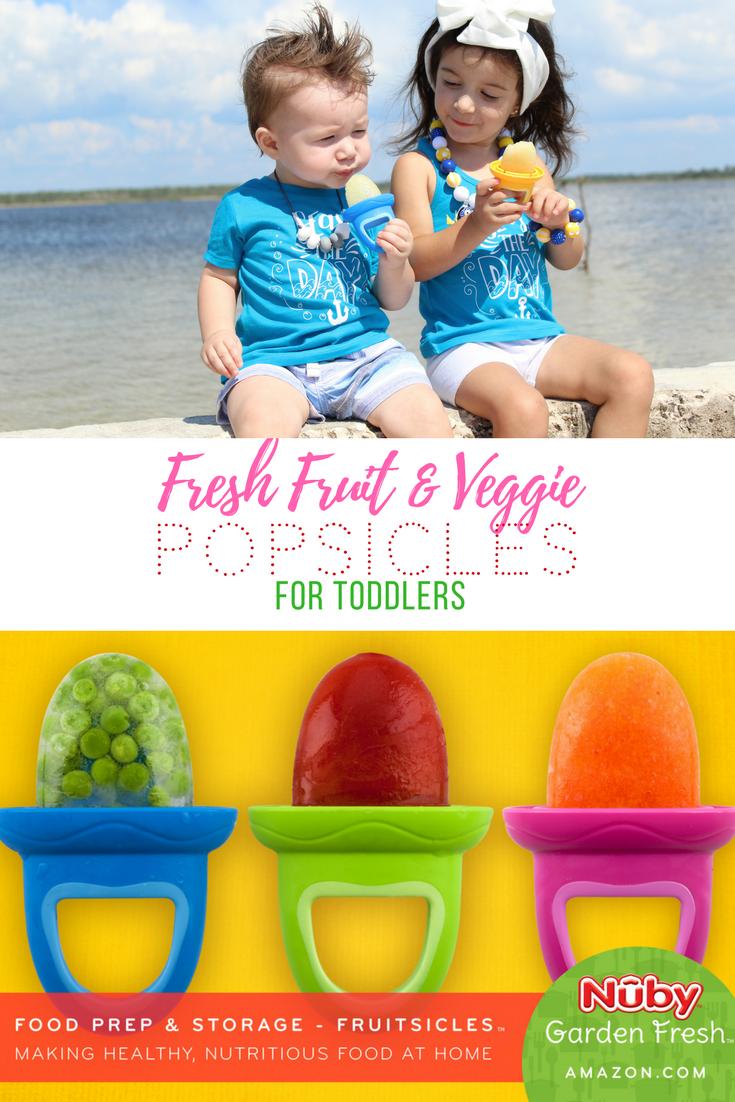 Nuby Garden Fresh Fruitsicles | Toddler Popsicles | Teething Remedies | Kids Popsicles | Real Fruit Frozen Treats