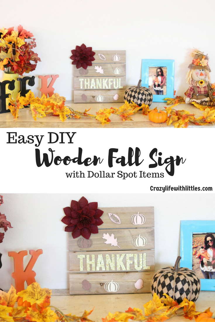 Creating a Simple wooden fall sign to accent decor has never been easier or more inexpensive.