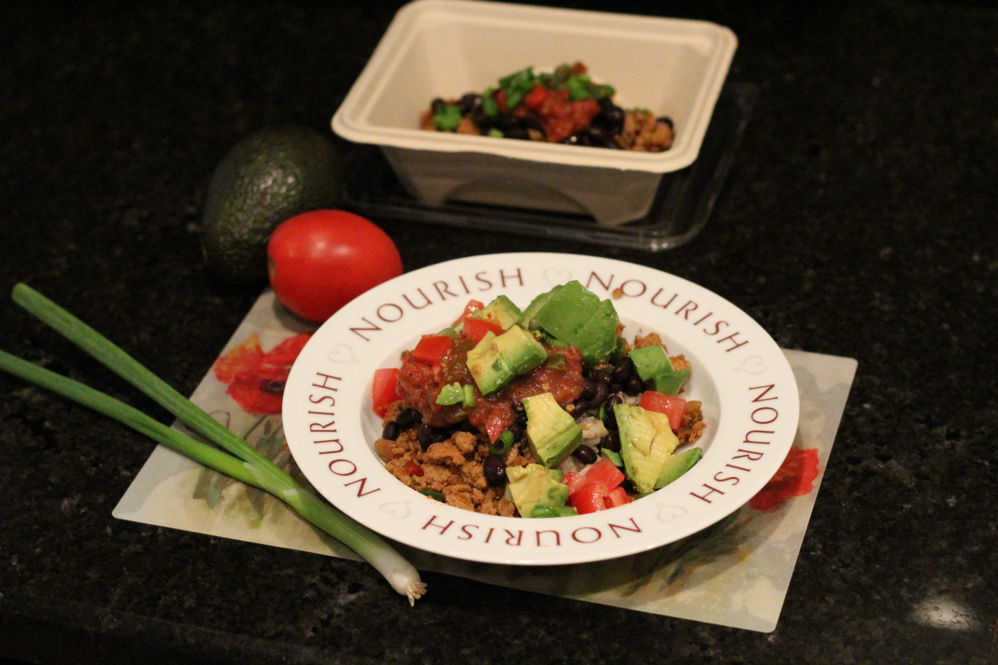 Easy Homemade Taco Bowl Recipe perfect for dinner and lunch leftovers