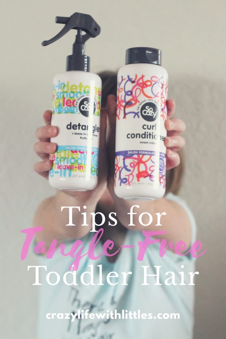 Tips for Tangle Free Toddler Hair with SoCozy | Crazy Life with Littles