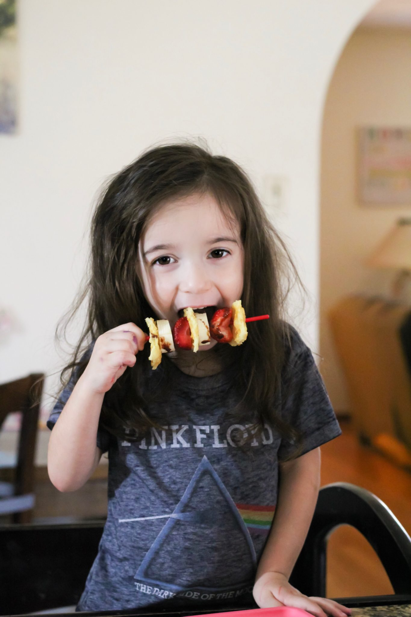 Toddler Snack Skewers with Eggo Buttermilk Waffles
