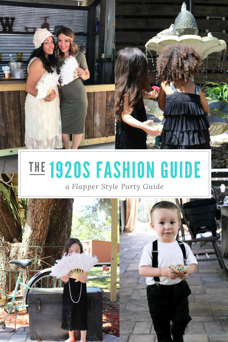 1920s Fashion Guide for Women and Children, Flapper Style, Gatsby Party Theme