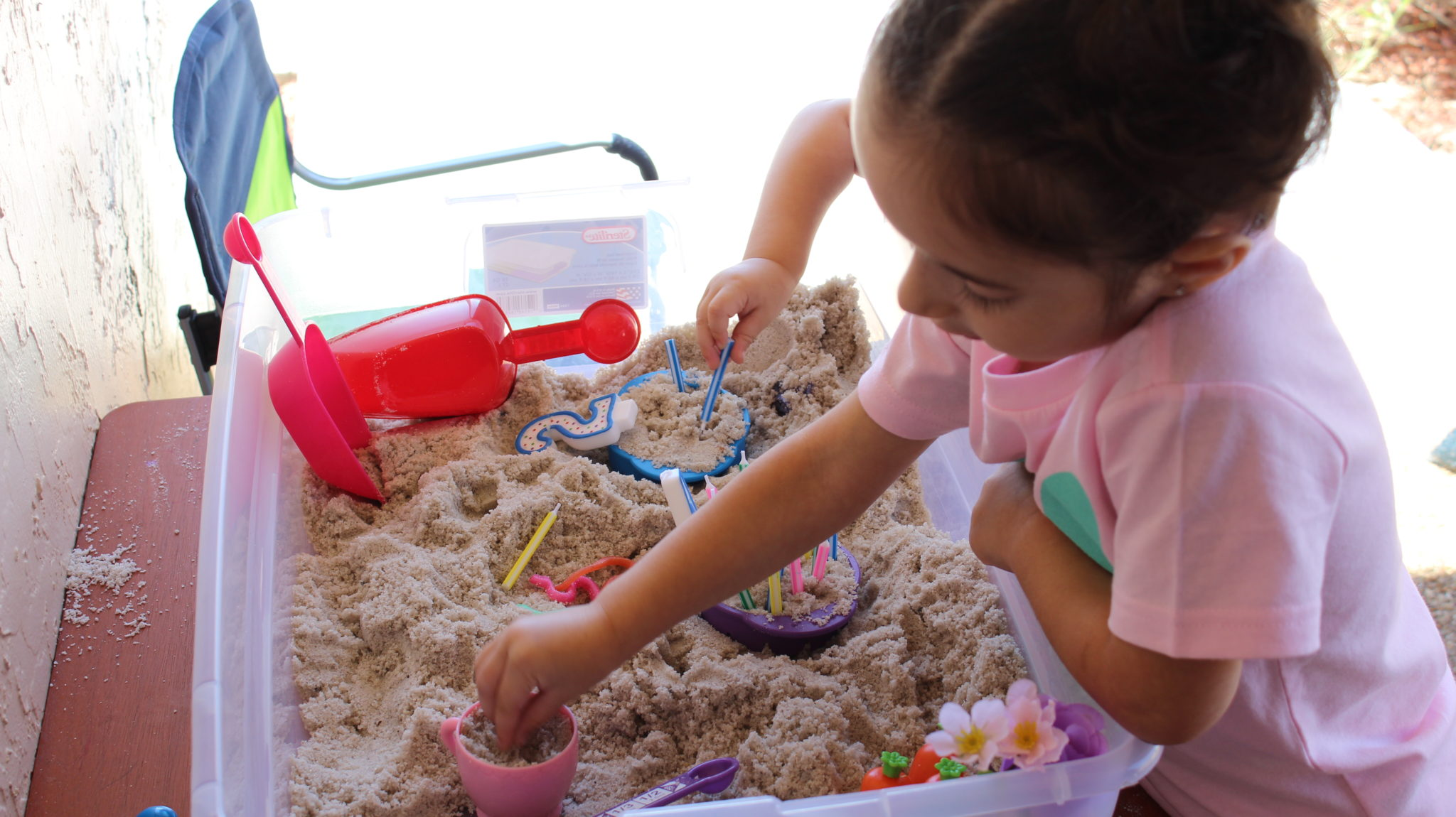 Birthday Theme Sensory Bin for Toddlers