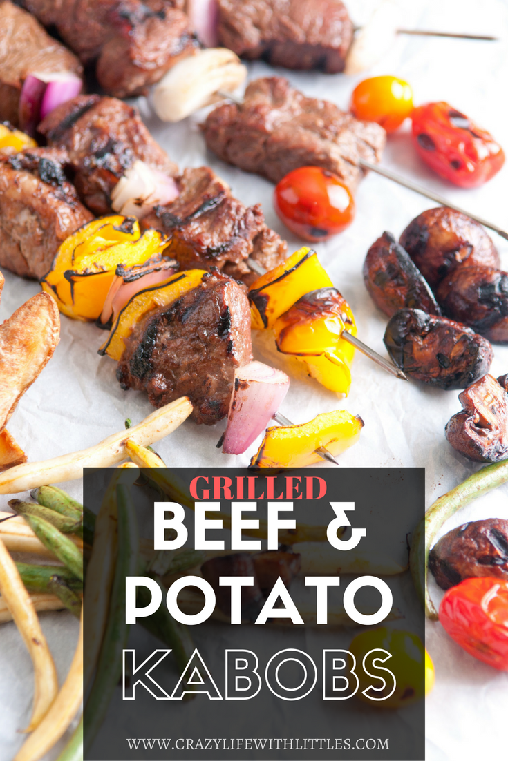 Grilled Steak Kabobs using Fresh from Florida ingredients. The perfect spring and summer recipe for outdoor family BBQs. Beef and Potato Skewers