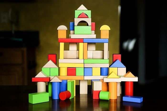 classic wooden blocks, Cubbie Lee toys, 100 pc block set