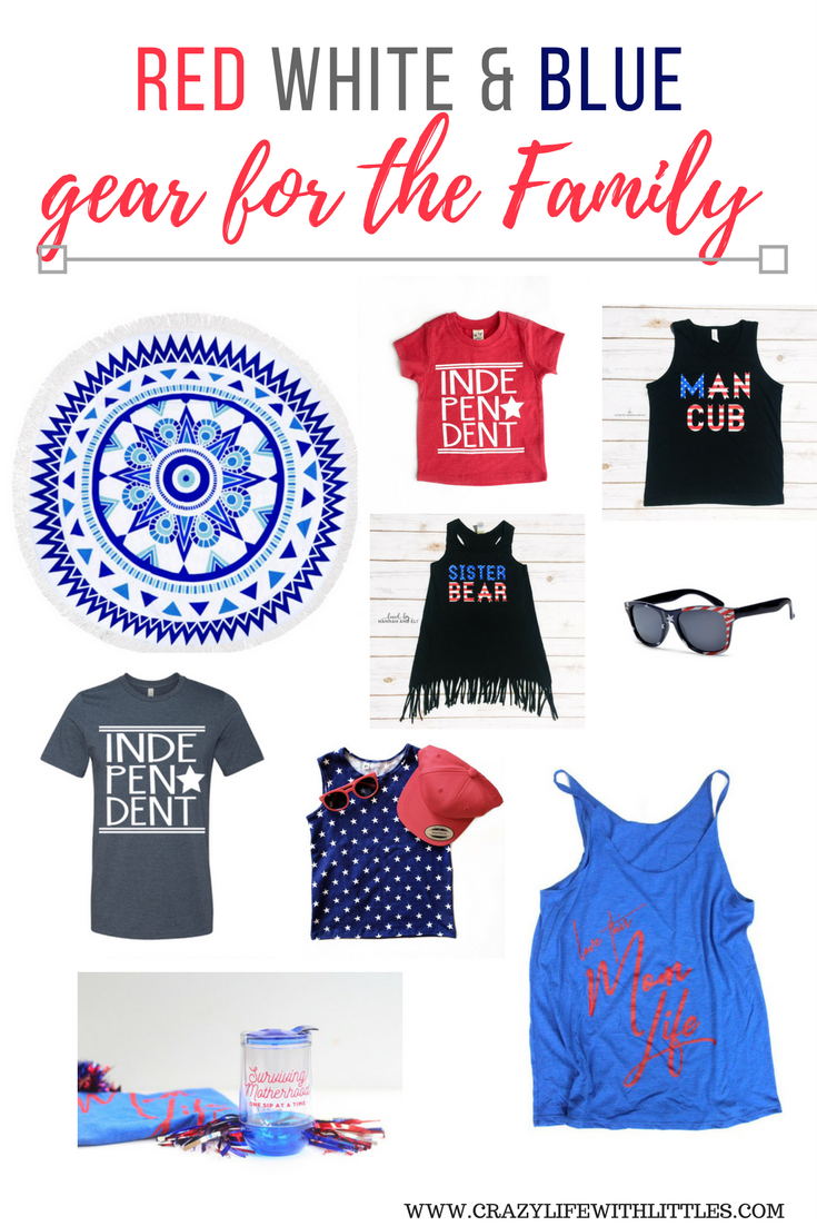 patriotic apparel, red white and blue outfits, 4th of july gear, american flag, clothing for the family