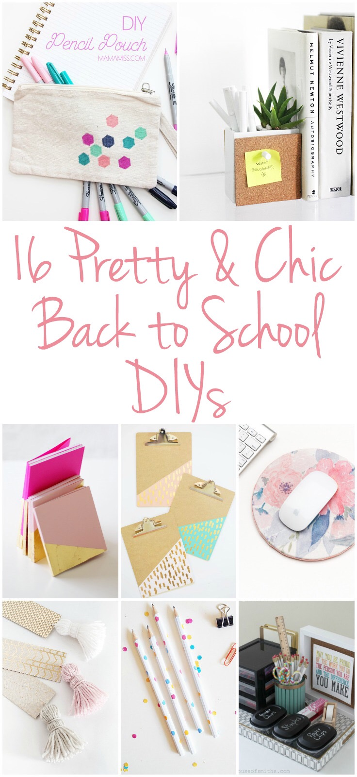 16 Pretty & Chic Back to School DIYs, home office organization, back to school crafts, office supplies, DIY, modern office decor
