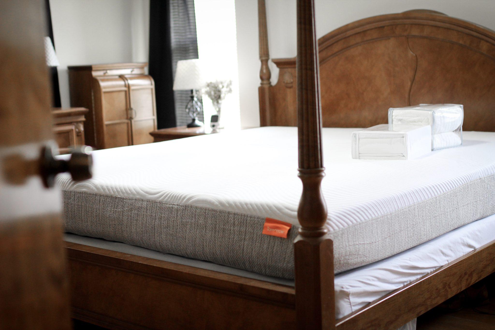 Tomorrow Sleep hybrid mattress, supima cotton sheets, memory foam mattress, tips on getting a good night's sleep