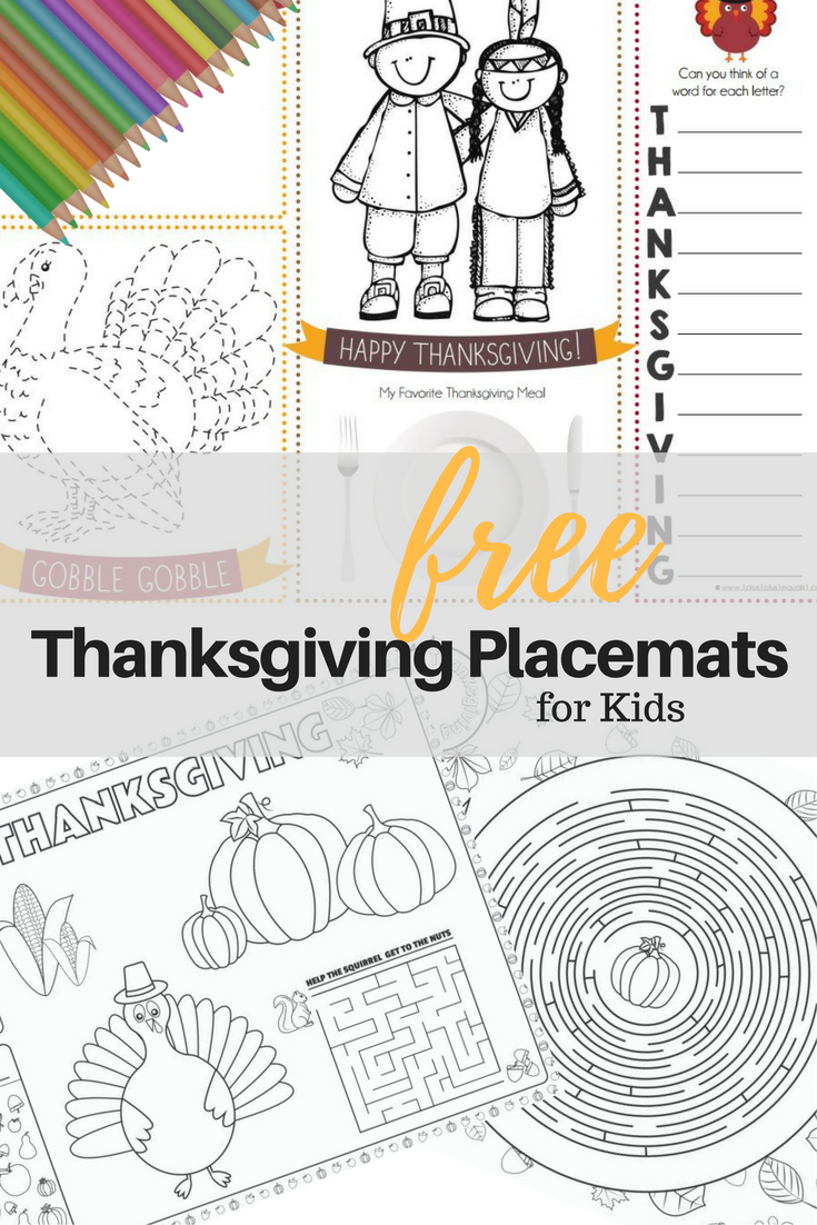 graphic about Printable Placemat Templates called Thanksgiving Location Mat Printables for Small children Tampa Mother Blogger
