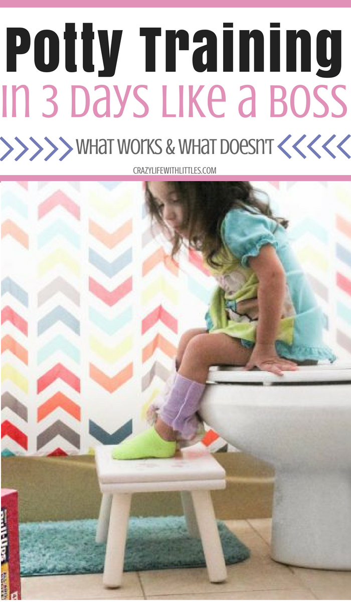 How to potty train your toddlers, boy or girls, in 3 days using these simple tips and tricks!
