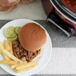 BUSY BACK TO SCHOOL NIGHTS MADE EASIER WITH CROCKPOT SLOPPY JOES