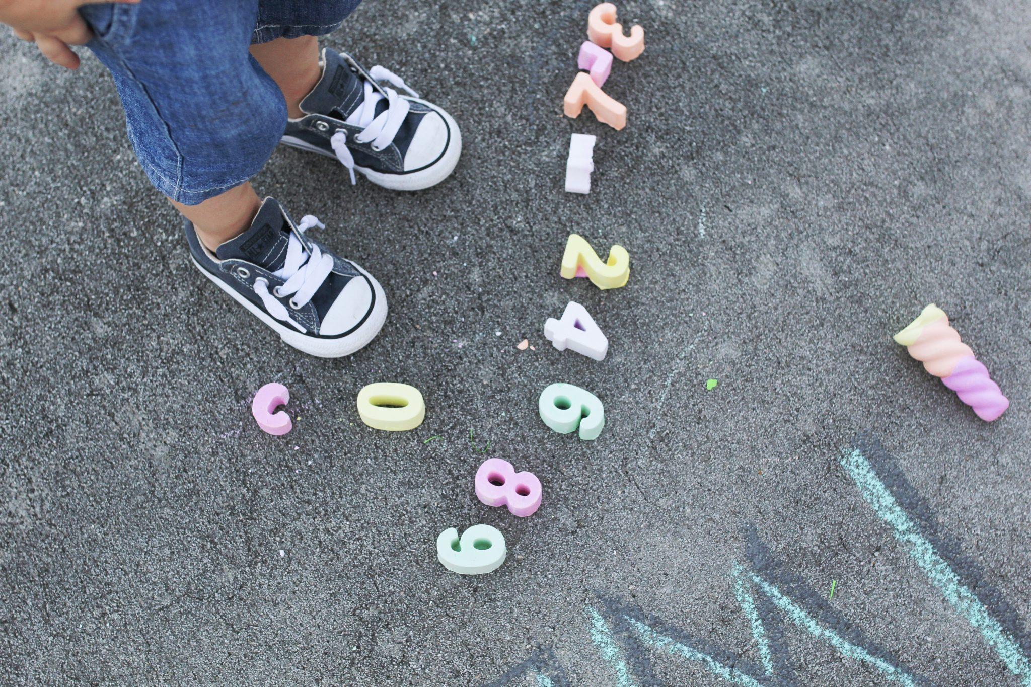 LEARNING THROUGH PLAY WITH SIDEWALK CHALK