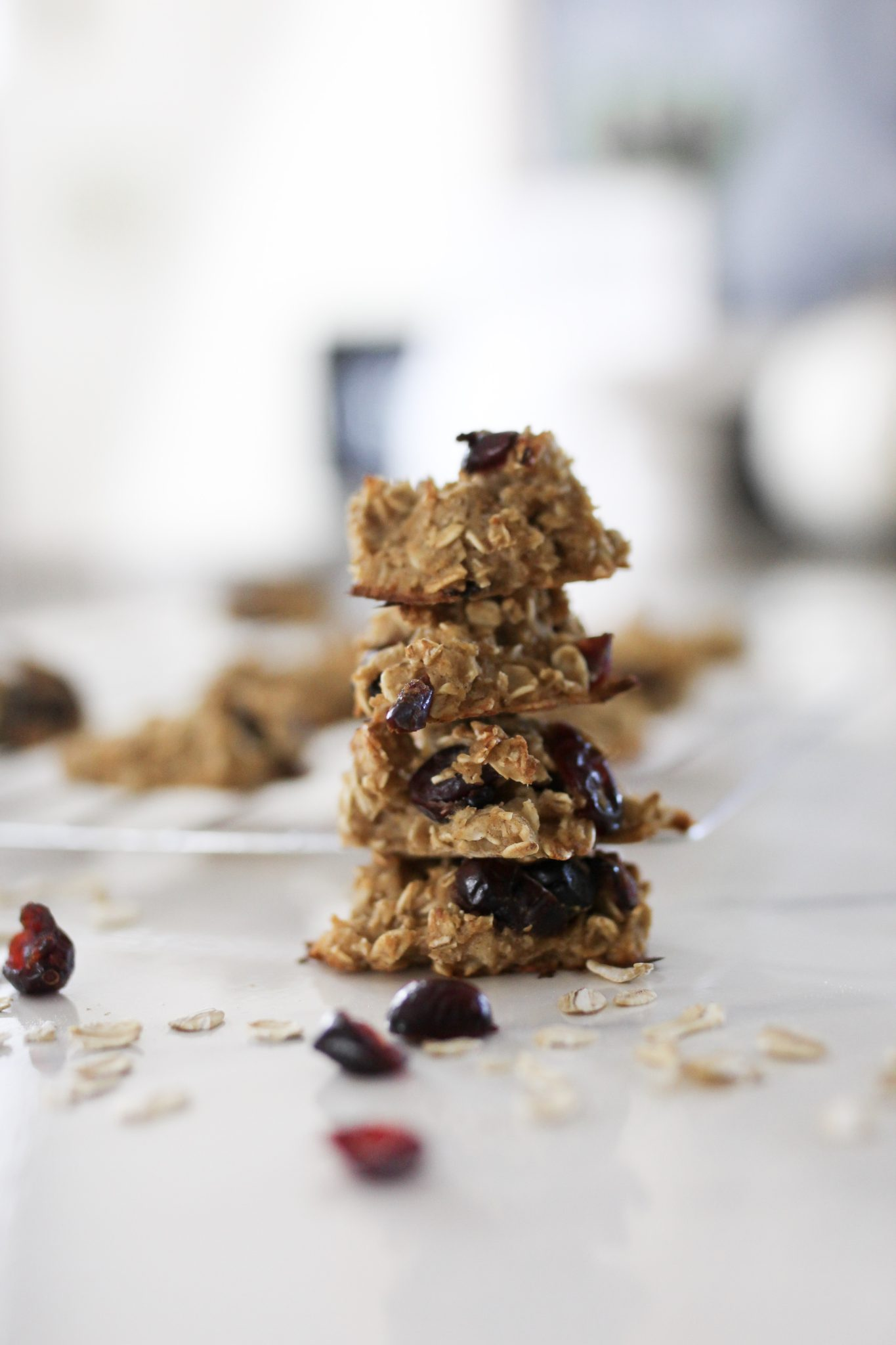 Healthy Cranberry Oat Breakfast Cookies