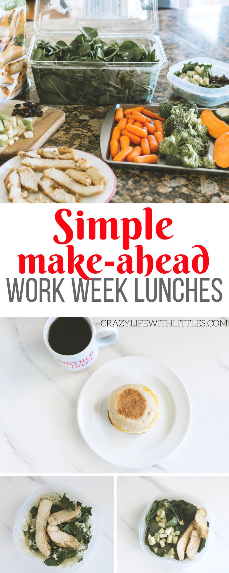 simple make ahead lunch ideas for making prep easier #ad #TysonBetterChoices #SamsClub