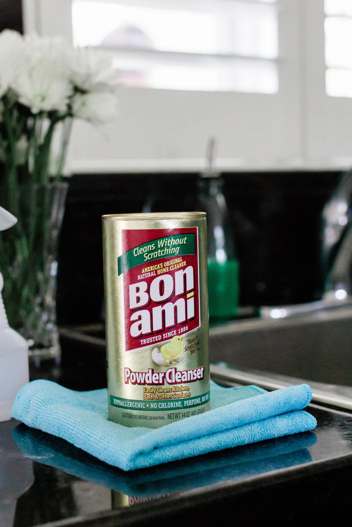 #ad #BonAmiClean deep clean kitchen checklist, how to deep clean a kitchen, kitchen cleaning steps, spring cleaning checklist