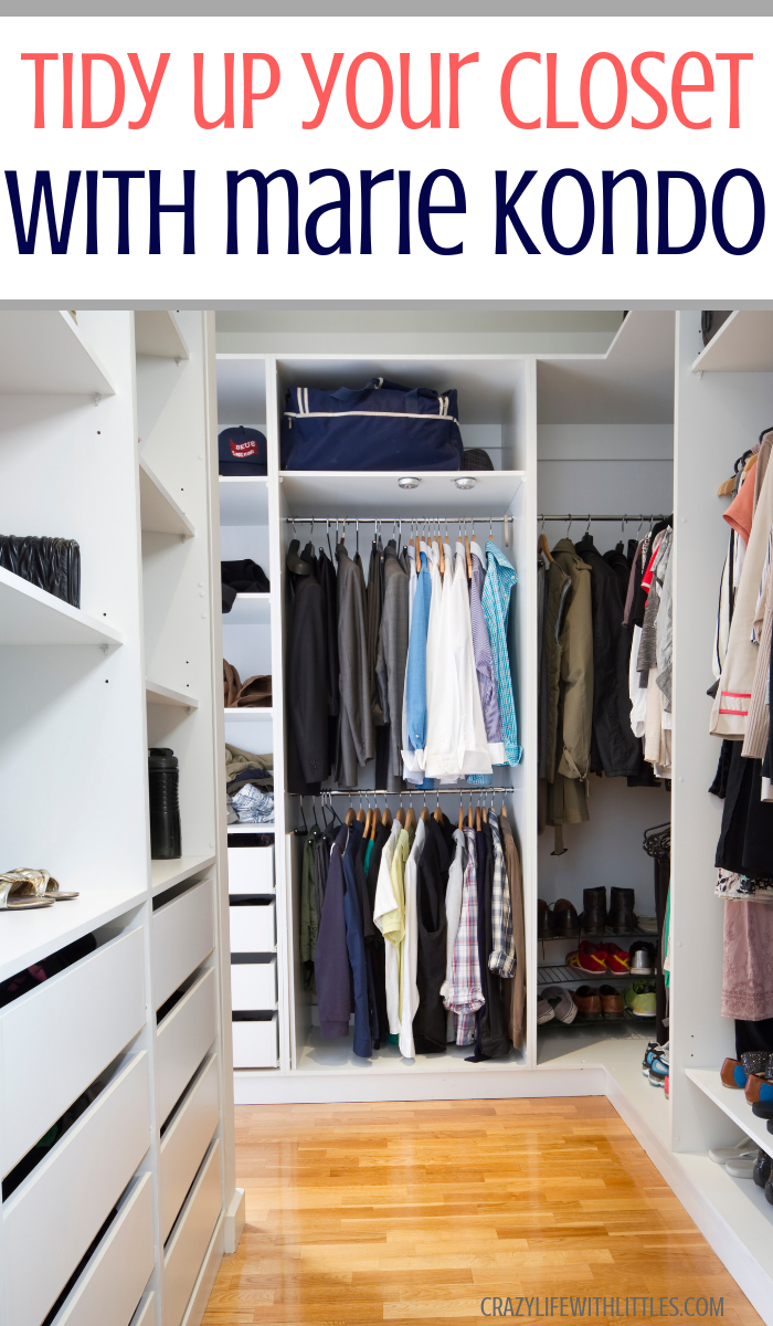 How to tidy up your closet using Marie Kondo's tips, tidy up on netflix, marie kondo method, KonMari, marie kondo tips, closet organization, how to maximize space in your small closet, marie kondo folding
