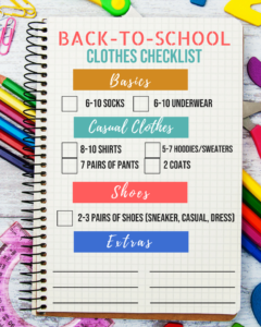 budget friendly back to school shopping, school clothes shopping, how to save money and stock up on back to school basics, back to school checklist, Tampa parenting blog mothers blog motherhood blog Florida travel blogger travel influencer healthy mom blogger spring hill florida lifestyle parenting blog best mom blog 2018