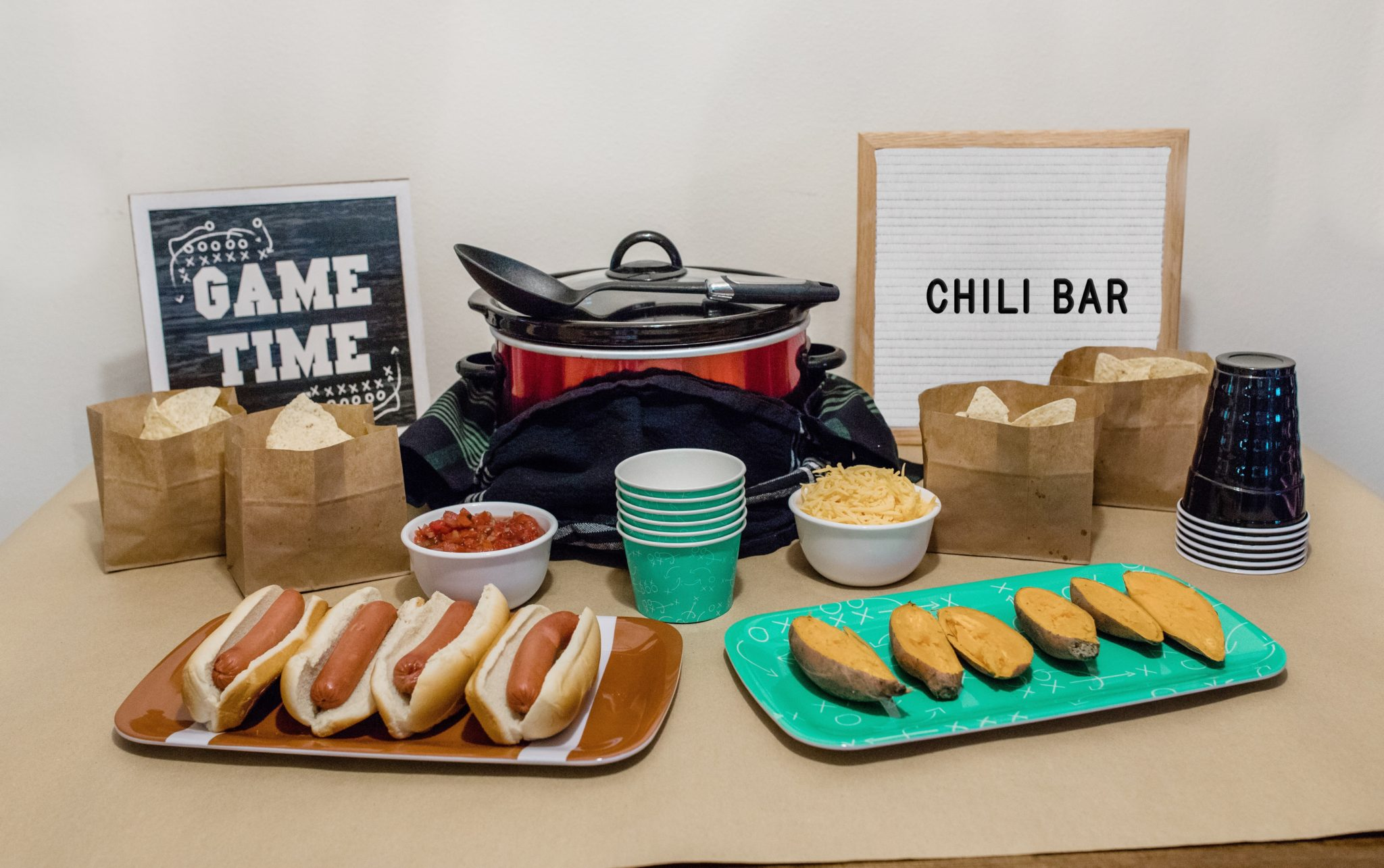 SUPER BOWL GAME DAY TURKEY CHILI BAR