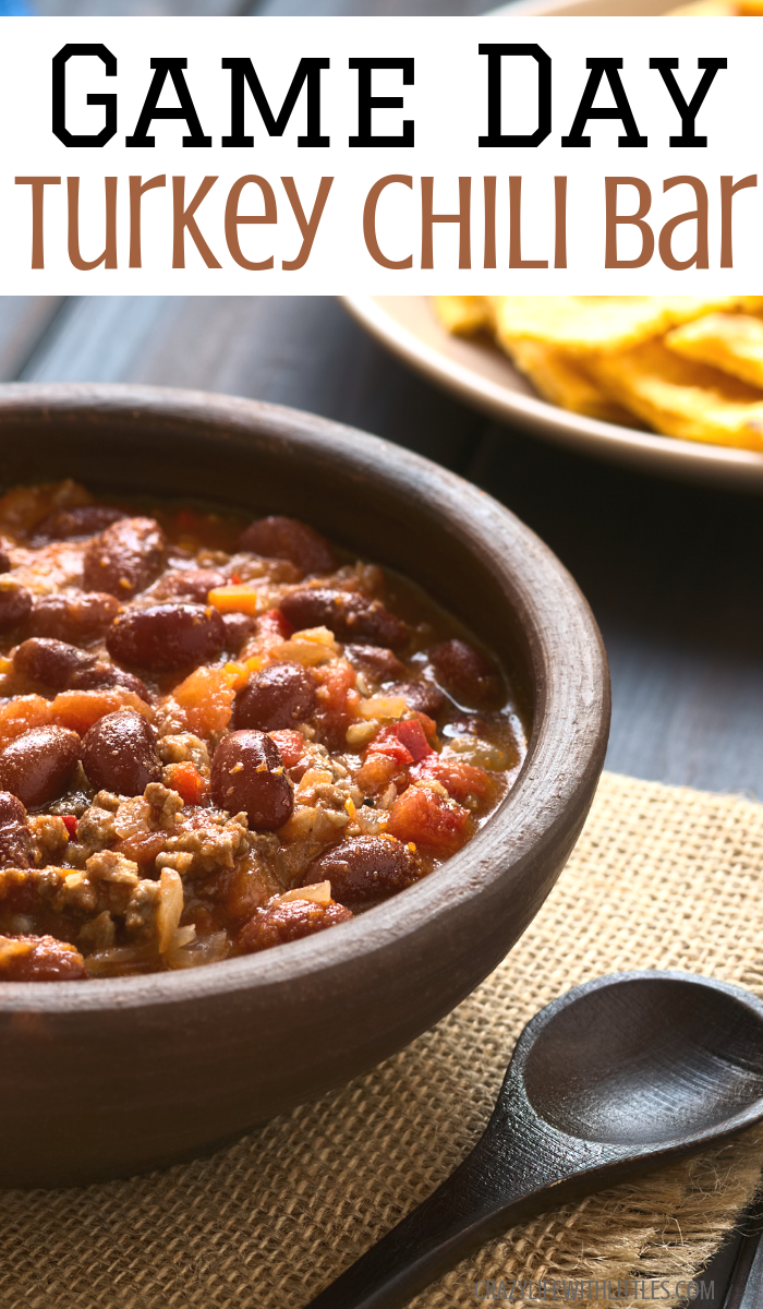 Easy Slow Cooker Game Day Turkey Chili Recipe Bar that's tasty, healthy and budget friendly by Crazy Life with Littles, Tampa Lifestyle and Mom Blog