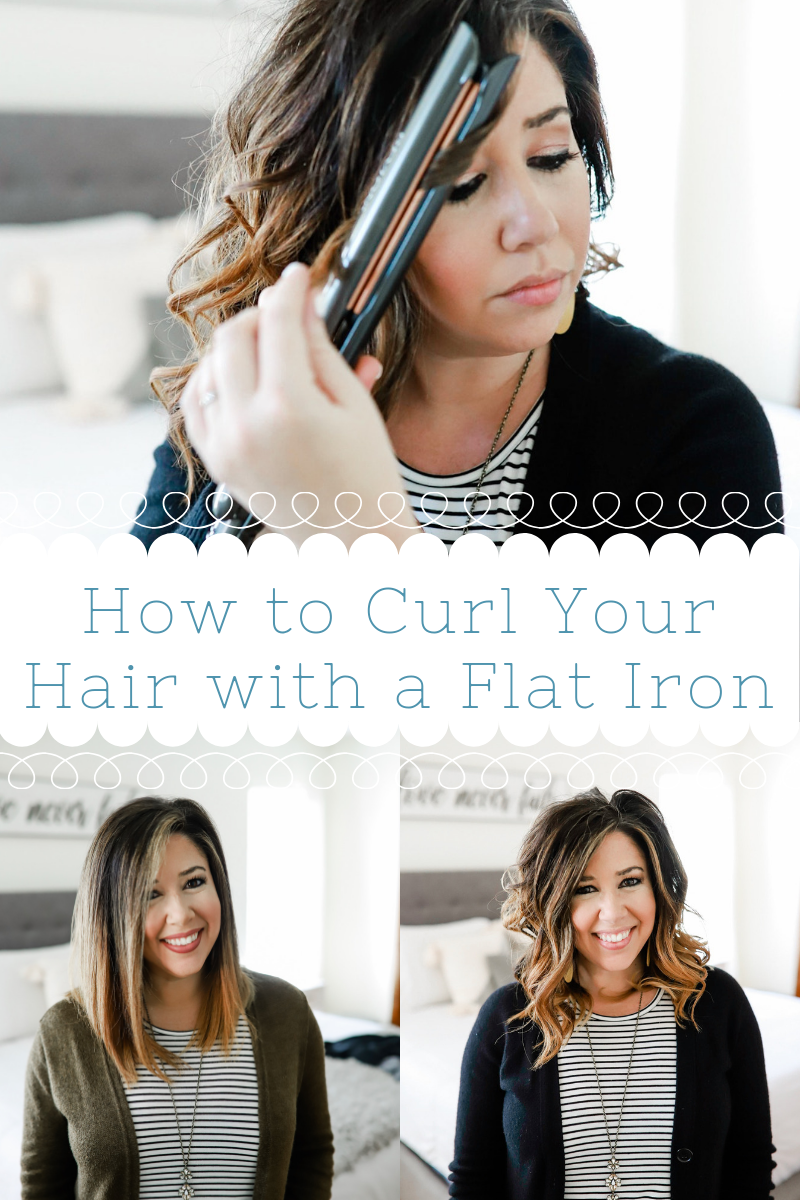 "#ad #RevlonHairTools #Target #makebeautifulhairhappen How to Get Fast Curls with a Flat Iron featuring the Revlon Hair Tools Salon Copper Smooth 1"" Flat Iron by Crazy Life with Littles, a Tampa lifestyle and mom blog."