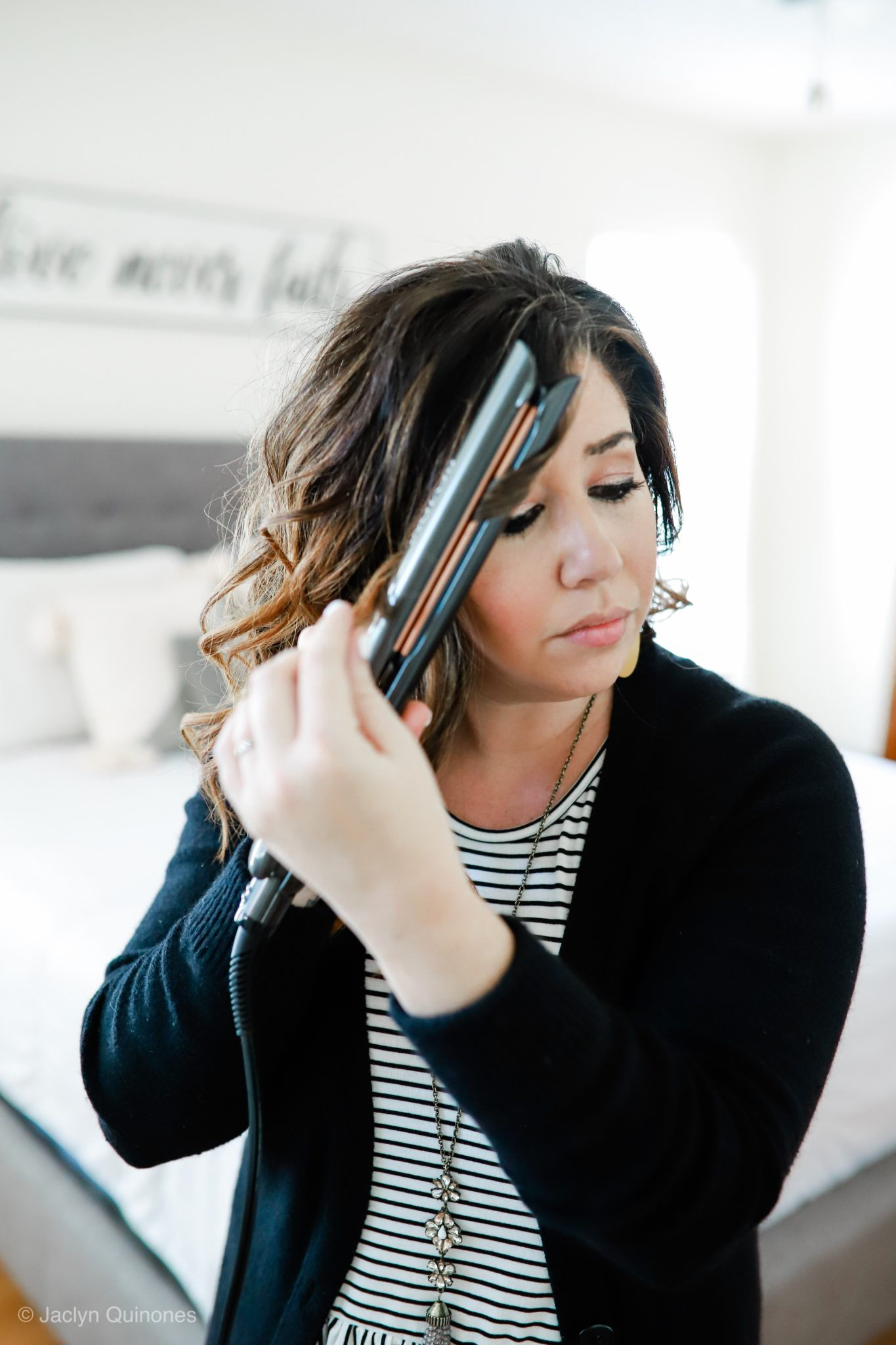 How to Curl Your Hair with a Flat Iron with Revlon Hair Tools by Crazy Life with Littles, Tampa lifestyle and mom blogger