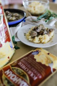 3 Tips for Preparing Family Meals by Tampa Lifestyle and Mom blogger, Crazy Life with Littles; turkey meatballs in mushroom gravy with mashed potatoes