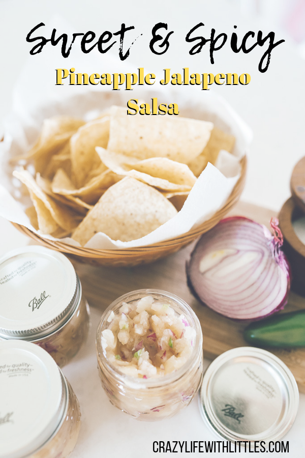 Sweet and Spicy Pineapple Jalapeno Salsa perfect for summer grilling - Tampa Lifestyle and Mom Blog Crazy Life with Littles #pineapplesalsa #spicysalsa #summergrilling