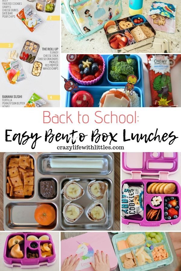 Easy Bento Box Lunches for Kids #backtoschool #bentobox #bentolunch #preschoollunch #toddlerlunch #pickyeater