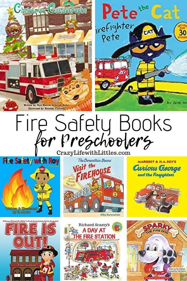 Fire Safety Books for Preschoolers #fireprevention #fireawareness Fire Prevention Week