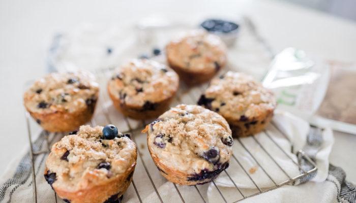 Blueberry Oatmeal Yogurt Breakfast Muffins