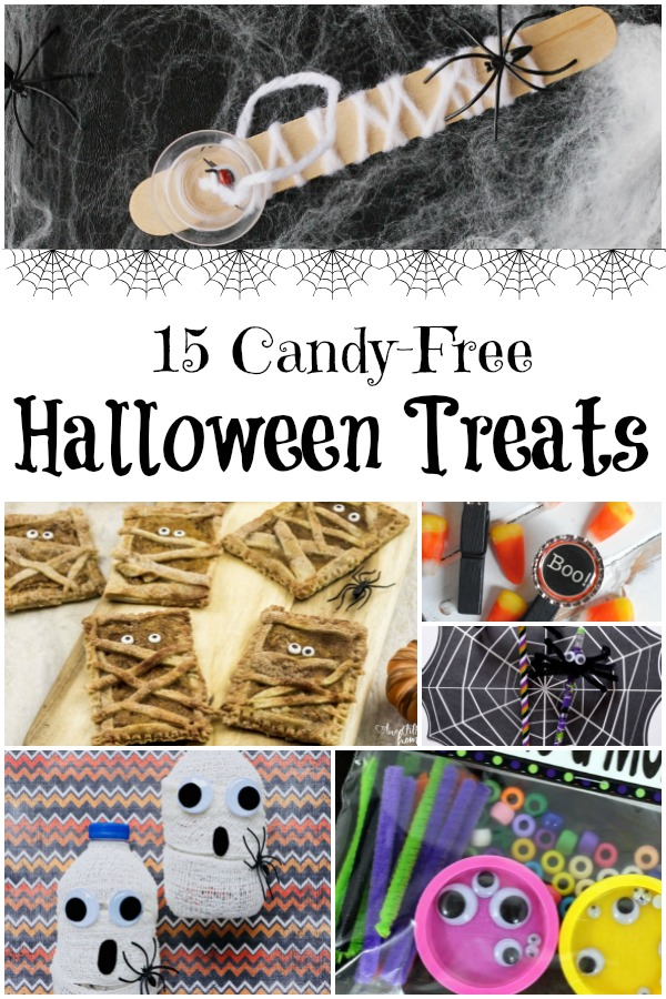 15 Candy-Free Halloween Treats for Kids #candyfree #nocandyHalloween #halloweentreats