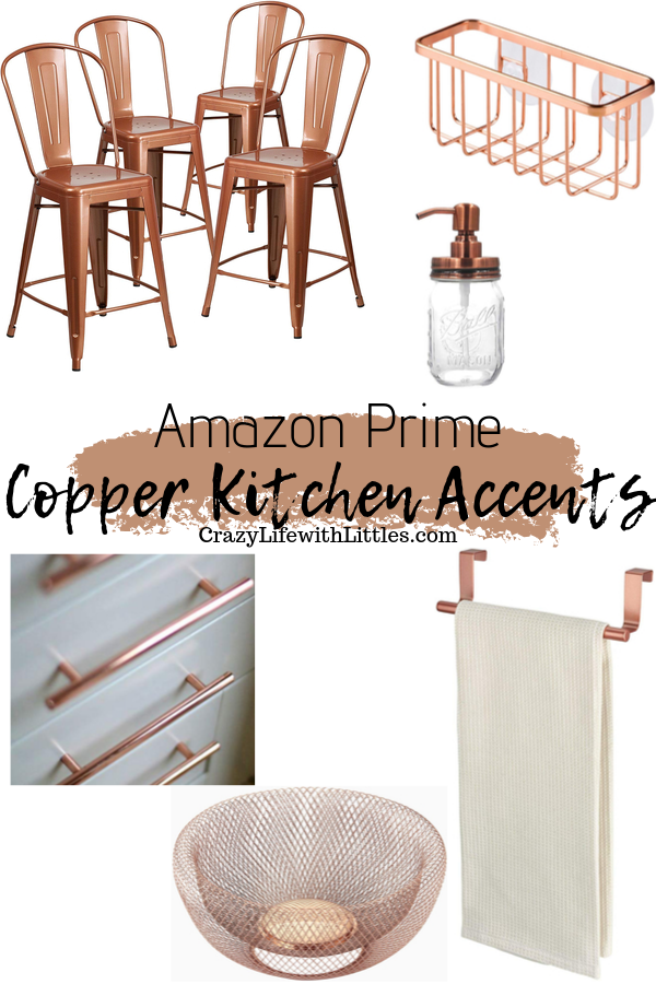 #farmhouse #kitchendecor #copper Amazon Prime Copper Kitchen Accents