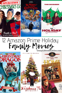 12 family holiday movies to watching this year included with Amazon Prime Video membership, holiday family traditions #AmazonPrime #holidaytraditions #holidaymovies