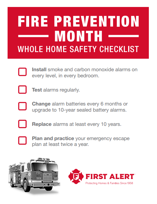 national fire prevention month, family fire safety plan, creating a safe home for children and family