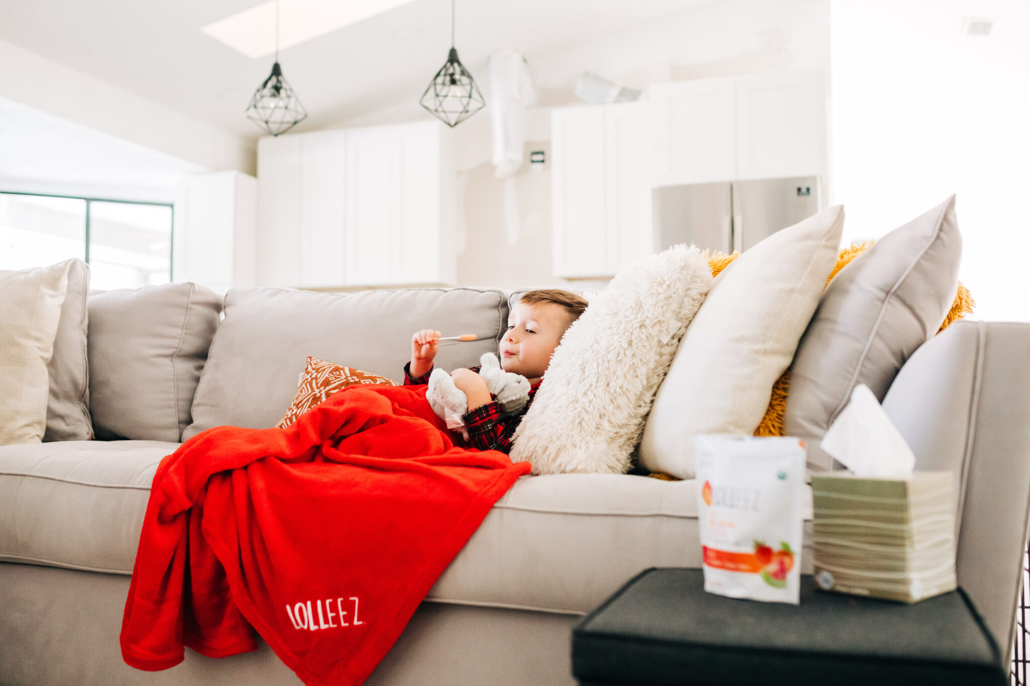 Mom Blogger, Crazy Life with Littles, shares her top sick day hacks for children including Lolleez organic pops to soothe sore throats, 9 Sick Day Hacks from a Mom, kids cold remedy, sore throat remedy