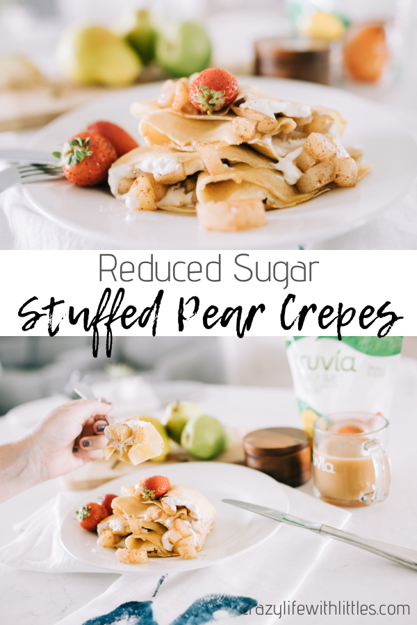 #crepes [#AD] These pear stuffed crepes made with @Truvia's calorie-free stevia sweetener are the perfect autumn alternative to traditional fall flavors! #fallrecipes #brunch #pearrecipes