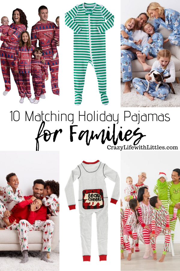 family matching pajamas for winter and the holidays #matchingpajamas #familymatching #mommyandme