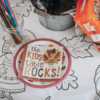 FUN THANKSGIVING KID TABLE IDEAS