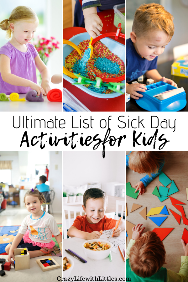 Sick Day Activities #sickday #quietactivities #preschoolactivities Tampa Lifestyle and Mom Blogger, Crazy Life with Littles shares her favorite indoor quiet activities for kids ages 3-7