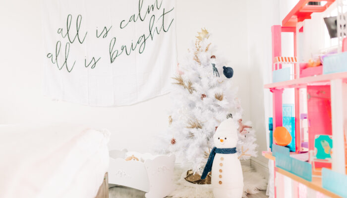 Chic White Christmas Tree for Little Girl