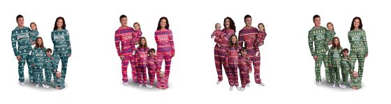 Sports Family Family matching pajamas for the holidays