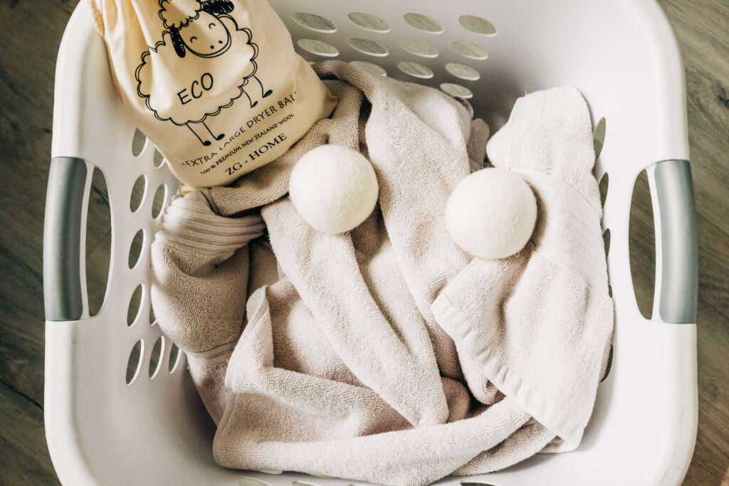 money saving household items, wool dryer balls, eco-friendly, energy saving, money-saving tips
