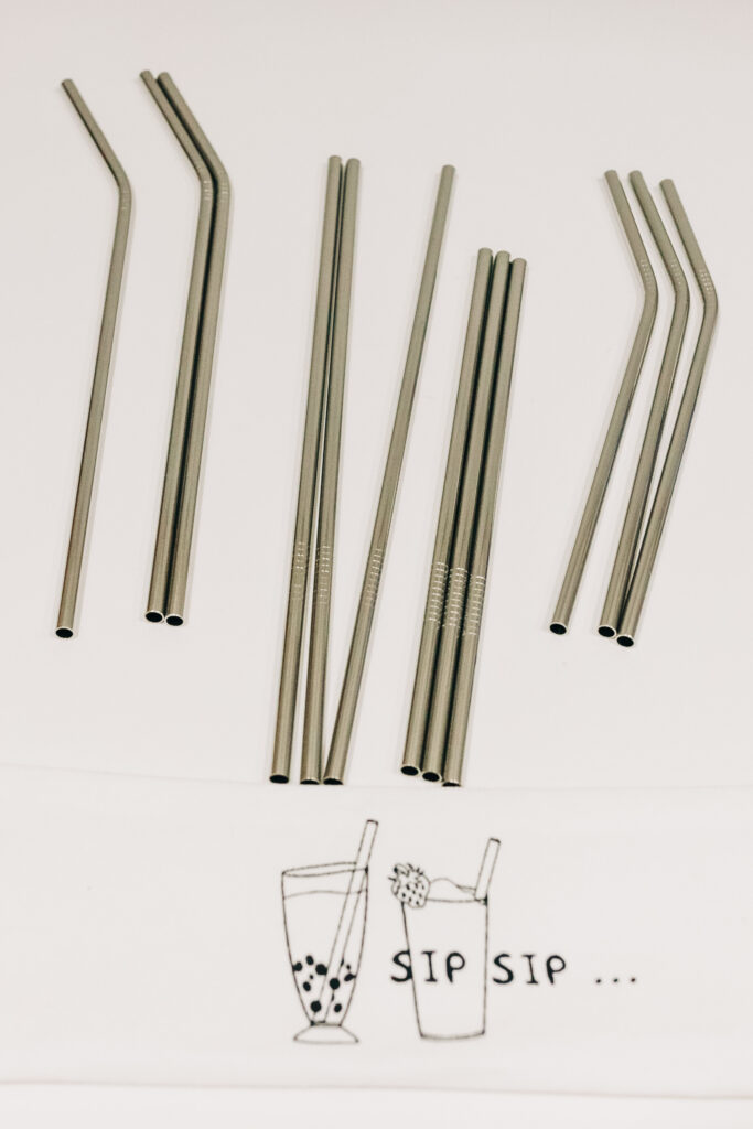 money saving reusable items, stainless steel straws, reusable straws, eco-friendly