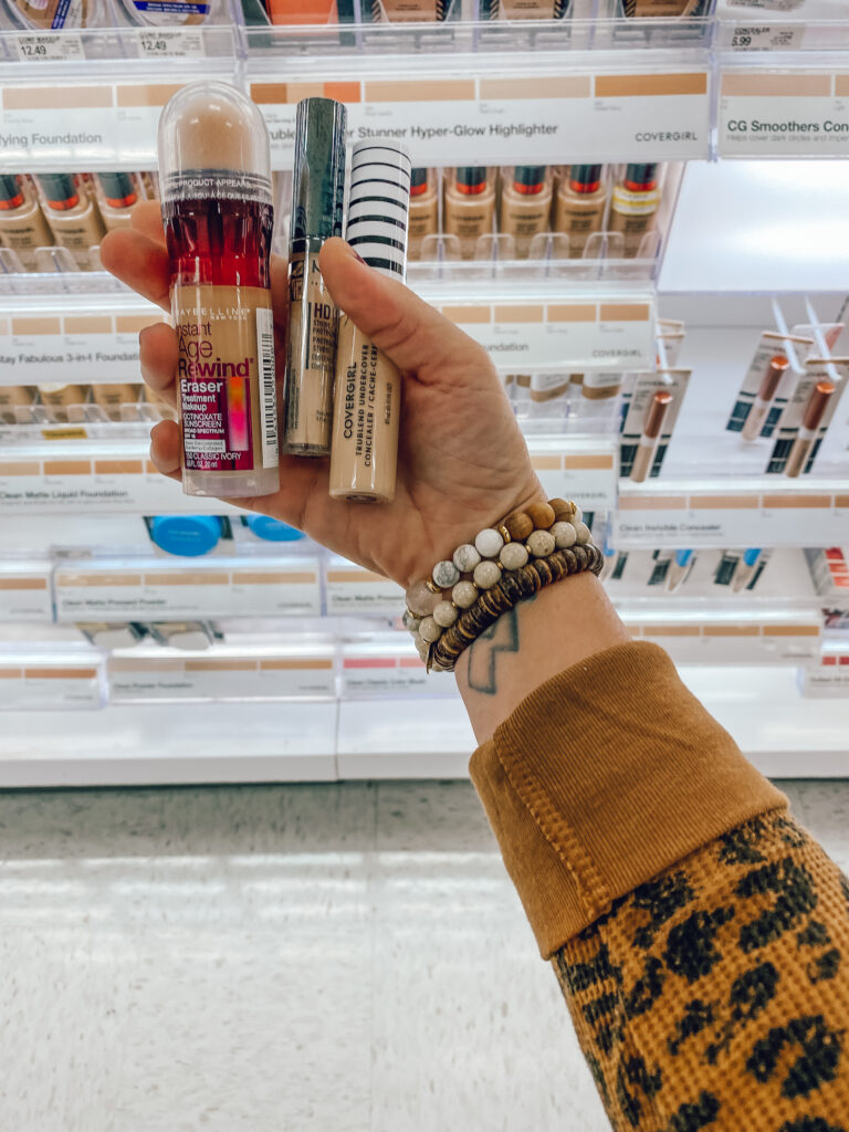 top 5 drugstore + Ulta under-eye concealers recommended by women, clean beauty, clean makeup