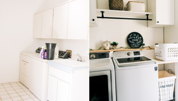 Before + After Laundry Room Makeover