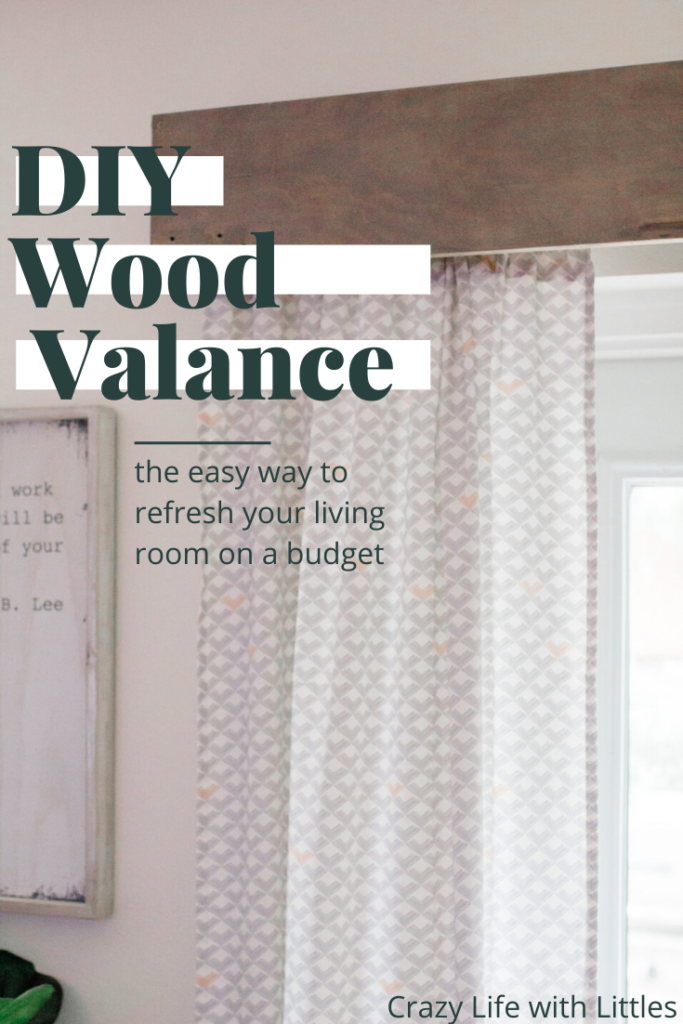 refresh living on a budget, budget friendly DIY, DIY wood valance, home decor, farmhouse decor on a budget, woodworking
