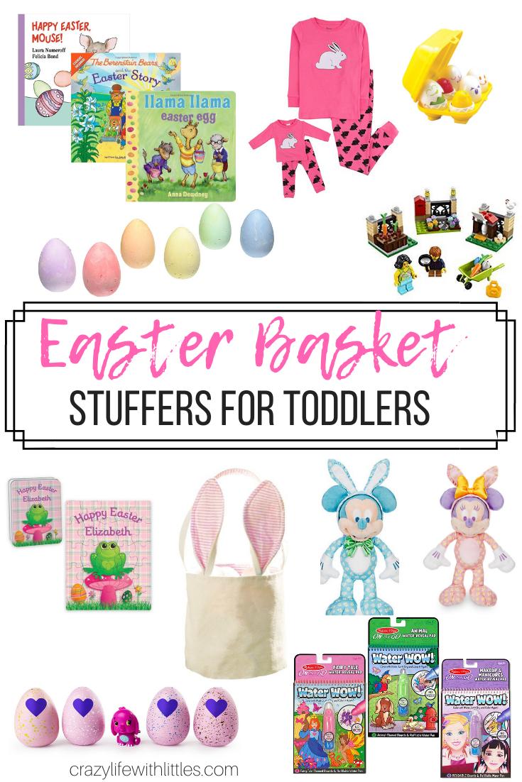 toddler easter basket ideas, easter basket stuffers for toddlers, no candy easter basket ideas #Easter #EasterBasket #EasterStuffers