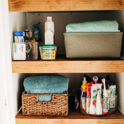 Linen Closet Storage and Organization