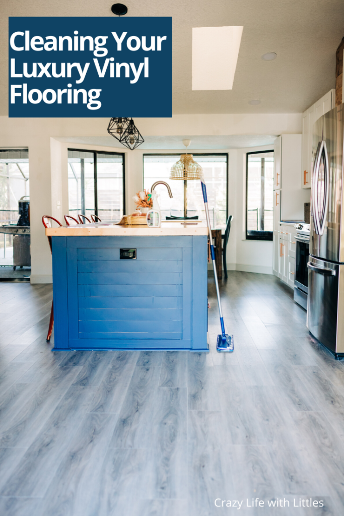#springcleaning #luxuryvinyl The secret to keeping your luxury vinyl flooring clean with Bona Hard-Surface floor cleaner.