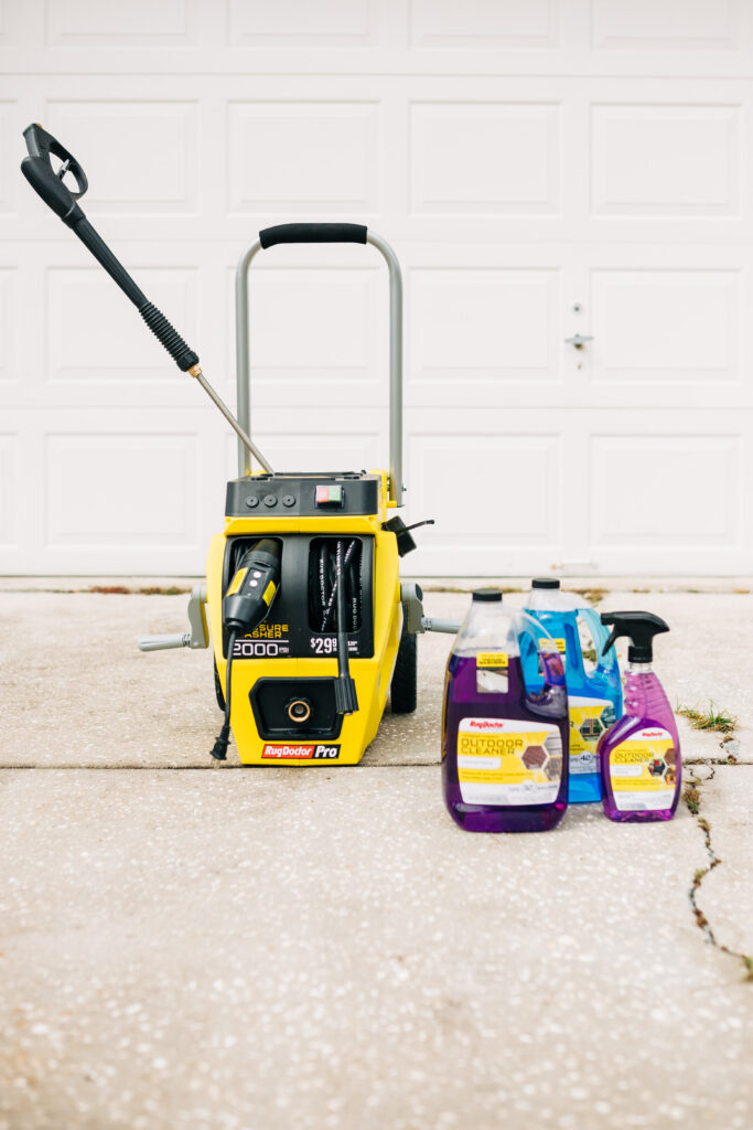 outdoor spring cleaning, pressure washing kids playground equipment, Rug Doctor rental, outdoor yard cleaning